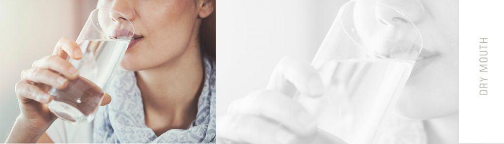 نوشیدن آب یکی از راه کارهای کمک به کاهش خشکی دهان است